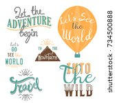 vintage typography travel... | Shutterstock .eps vector #734500888