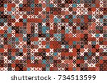 vector background with abstract ... | Shutterstock .eps vector #734513599