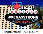 las vegas nevada   10 oct   the ...   Shutterstock . vector #734516374