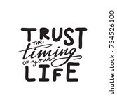 lettering phrase trust the