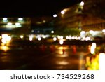 the blurred of buildings with... | Shutterstock . vector #734529268