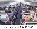 passengers traveling by a new... | Shutterstock . vector #734532688