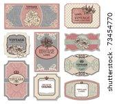 Stock vector set of vintage labels 73454770
