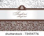 abstract invitation frame with...