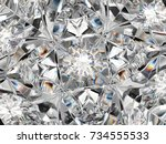 gemstone macro closeup with...   Shutterstock . vector #734555533