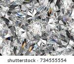 diamond closeup pattern and... | Shutterstock . vector #734555554