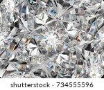 diamond closeup pattern and...   Shutterstock . vector #734555596
