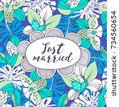 wedding invitation template... | Shutterstock .eps vector #734560654