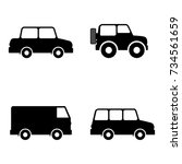 car icons | Shutterstock .eps vector #734561659