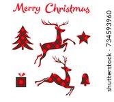 Christmas Set On Tartan...