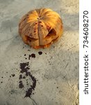 Halloween Squash With Carved...