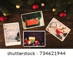 photo album in remembrance and... | Shutterstock . vector #734621944
