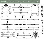 collection of page decoration... | Shutterstock .eps vector #73463533