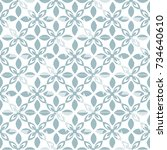 modern stylish pattern for... | Shutterstock . vector #734640610