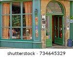 bayeux  france   july 18 2017   ... | Shutterstock . vector #734645329