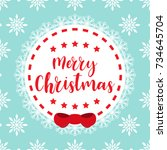 template christmas card  for... | Shutterstock .eps vector #734645704