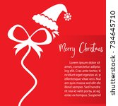 template christmas card  for... | Shutterstock .eps vector #734645710