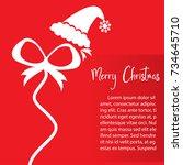 template christmas card  for... | Shutterstock .eps vector #734645710
