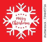 template christmas card  for... | Shutterstock .eps vector #734645716