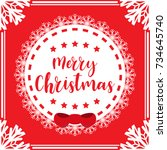 template christmas card  for... | Shutterstock .eps vector #734645740
