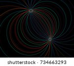 string theory. physical... | Shutterstock . vector #734663293