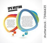 modern composition of speech... | Shutterstock .eps vector #73466635