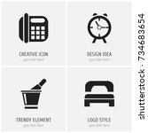 set of 4 editable motel icons....