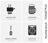 set of 4 editable cook icons....