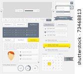 web design elements set | Shutterstock .eps vector #73468813