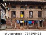 patan  kathmandu  nepal   circa ... | Shutterstock . vector #734695438
