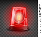 red alert siren vector. light... | Shutterstock .eps vector #734700196