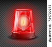 red flasher siren vector.... | Shutterstock .eps vector #734700196