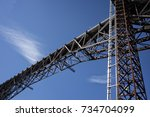a view of the poughkeepsie...   Shutterstock . vector #734704099