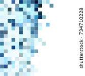 white blue mosaic background.... | Shutterstock .eps vector #734710228