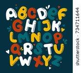 English Alphabet Vector ...