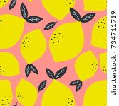 Fresh Lemons Background. Hand...