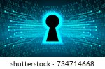 safety concept  closed padlock...   Shutterstock .eps vector #734714668