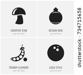 set of 4 editable food icons....