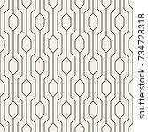 vector seamless pattern. modern ... | Shutterstock .eps vector #734728318