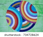 Colorful Striped Circle On...