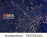 big data visualization.... | Shutterstock .eps vector #734732110