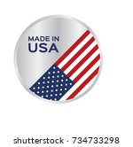 made in usa icon and vector | Shutterstock .eps vector #734733298