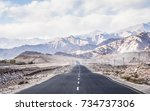 the beautiful landscape view of ... | Shutterstock . vector #734737306