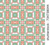 geometric seamless pattern... | Shutterstock .eps vector #734738044