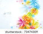 floral abstract background.