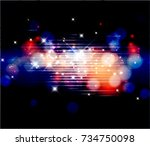 vector winter bokeh background. | Shutterstock .eps vector #734750098