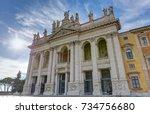 st. john lateran basilica  rome ... | Shutterstock . vector #734756680
