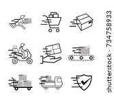 service industry including... | Shutterstock .eps vector #734758933