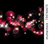 vector abstract twinkled... | Shutterstock .eps vector #734760673