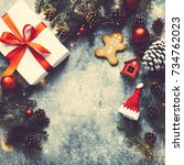 Christmas Background  Gift Box...